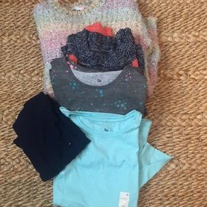 Bundle of 5 Size 8 pieces tops and pants